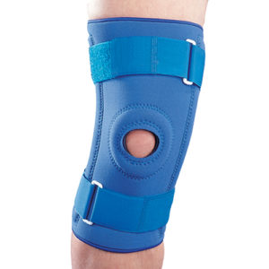 Бандаж на коленный сустав неопреновый со спиральными ребрами NS-706