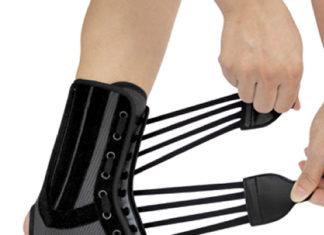 Бандаж на голеностопный сустав со спиральными ребрами жесткости WH-917